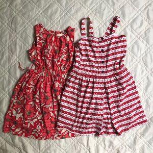 Bundle of bright summer dresses. Zara and HA